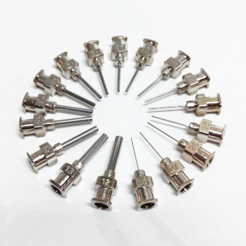 "12pcs 1//2/"" 0.5 inch 26GA Blunt stainless steel dispensing syringe needle tips"