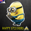 Minion Student Notepad Luggage Car Skateboard Luggage Scooter Decal Sticker