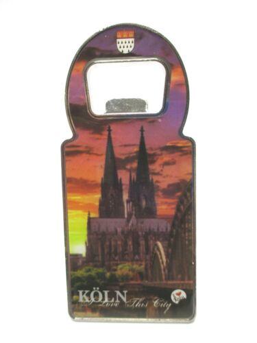 Köln Cologne Dom Metall Flaschenöffner Magnet 11 Souvenir Germany