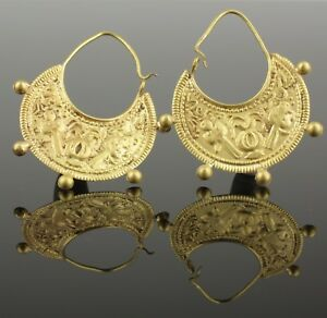 Image Is Loading Beautiful Pair Of Ancient Byzantine Earrings Circa 9th