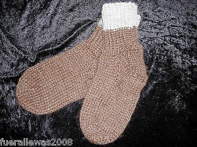 100% Alpaka Herrensocken Damensocken Socken handgestrickt hand knitted Varianten