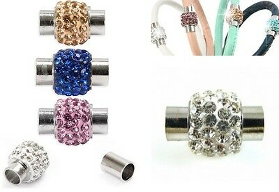 1 x Stunning Clay Rhinestone Disco Style Glue in Magnetic Clasp - lady-muck1