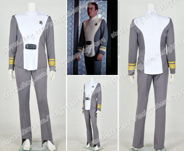 Star Trek The Motion Picture Admiral Kirk Uniform Costume Cosplay Halloween#AS