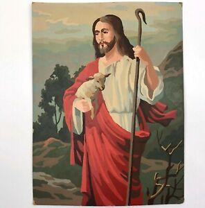 VTG-Paint-by-Number-PBN-ART-Painting-JESUS-CHRIST-the-Good-Shepherd-12x16