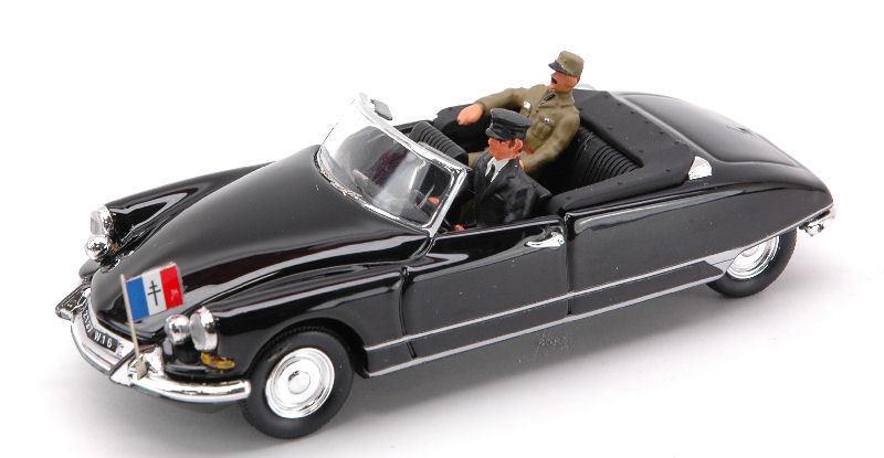 Citroen DS cabriolet tripartitas el general charles de gaulle 1959 1 43 Model rio4212p