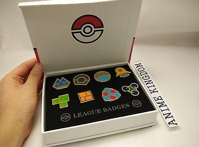 USA Seller Cosplay POKEMON Gym Badges in box Sinnoh League Set 8 Badge Pin
