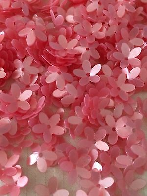 Sequins Flower Flamingo Peach Pink Pearl Gloss 10mm Demi-Cup Not Flat! Unique