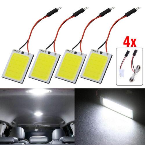 4Pcs 24 SMD COB LED T10 4W Light Car Interior Panel Lights Dome Lamp Bulb White
