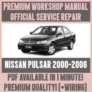 nissan pulsar n16 2001 2006 repair service manual