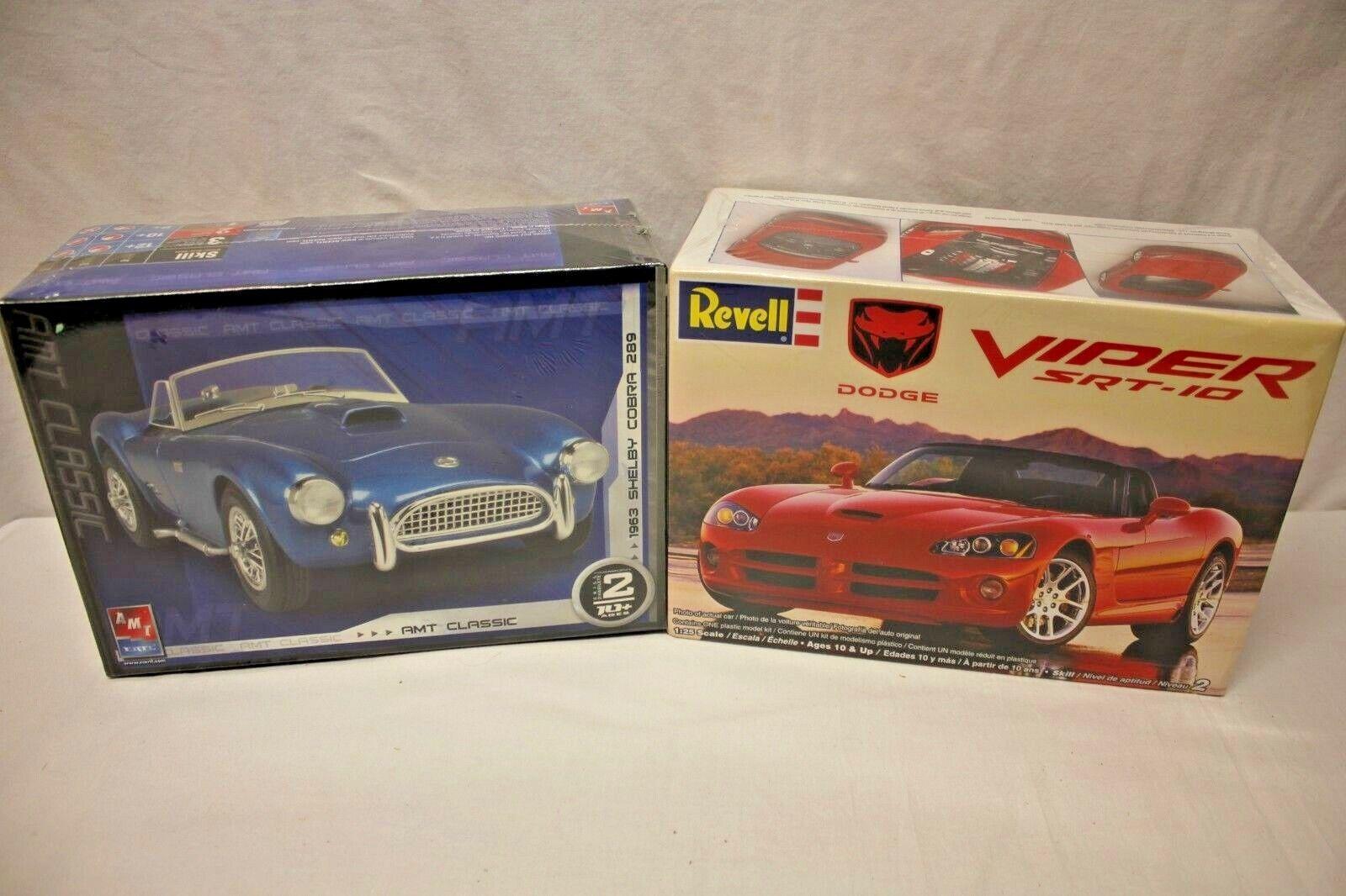 1963 Shelby Cobra 289 AMT ERTL and Dodge Viper SRT10 ACR Revell 1 25 MODEL KITS