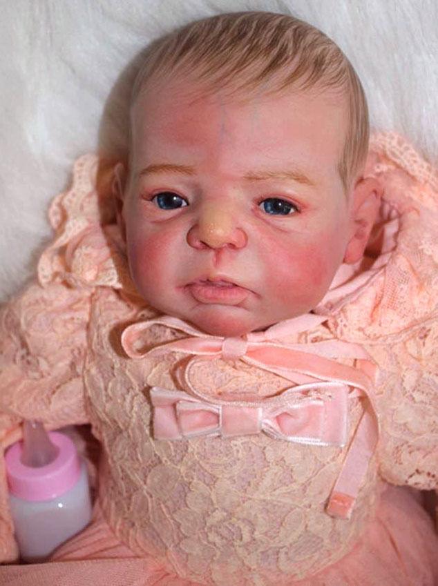 20  Muñeca Bebé Reborn niña realista de vinilo suave silicona hecho a mano acompañar a muñeca