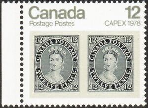 """1978 CANADA 12¢ CAPEX 78 """"No. 3, 1851 Queen Victoria"""" STAMP, MINT MNH, Scott 753"""