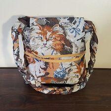 Cat Tapestry Needlepoint Purse Messenger Shoulder Bag Sara Williams Original