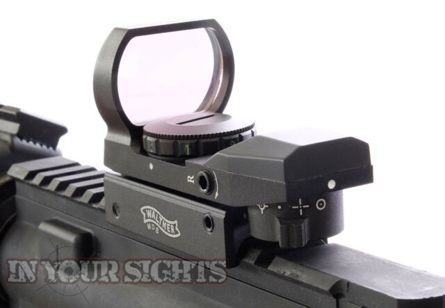 Walther Holographic red+green dot sight / Airsoft reflex sight / Fits 20mm rails