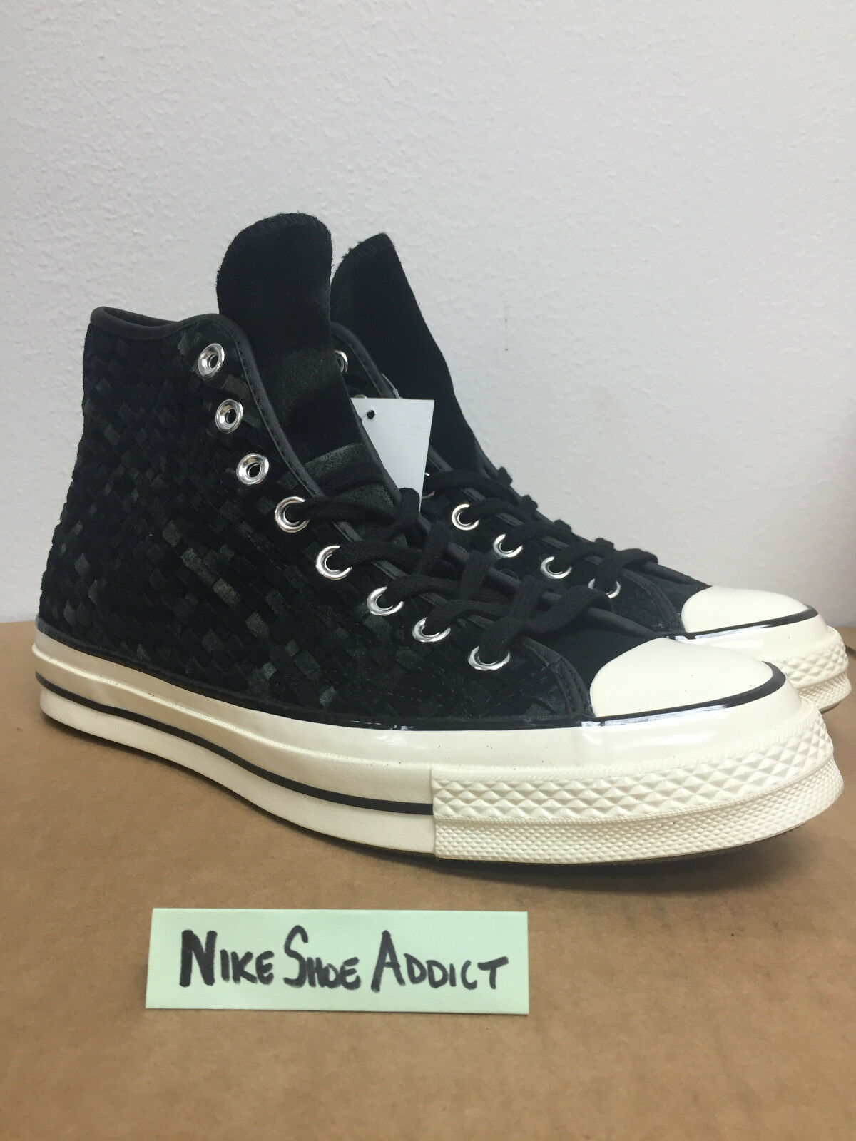 Converse All Star Chuck Taylor CTAS 70 Hi High Black Woven Off White 151244C Top