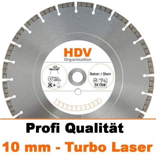 Beton 230 x 22,2 Turbo Laser Diamanttrennscheibe Diamantscheibe 10mm