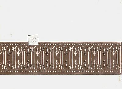 stamped copper 1//12 scale dollhouse miniature  36001 Tin Ceiling