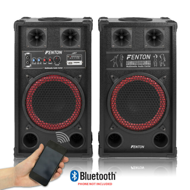 Fenton Spb 10 Pair Powered Bluetooth Disco Party Speakers With Usb Mp3 600w For Sale Online Ebay