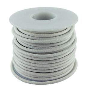 20 Gauge Stranded Cloth Wire 50 Feet, White