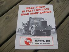 1940's FWD HG Road Maintainer Truck Sales Brochure