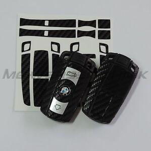 1B-Schluessel-Dekor-Aufkleber-BMW-1er-3er-5er-6er-7er-Z4-X1-X5-M-schwarz-carbon