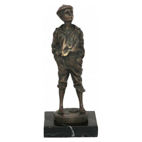 Pfeifender Junge Flötender Mensch Bronze Statue Musik