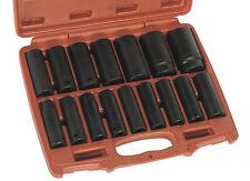 "Sealey Deep Impact Socket Set 16 Piece 1/2"" Sq Drive Metric 10 - 32 mm"