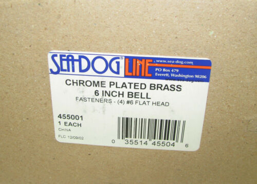 "455001 Sea-Dog Line Chrome Plated Brass 6/"" Ship/'s Bell w// Bracket 132-4055"