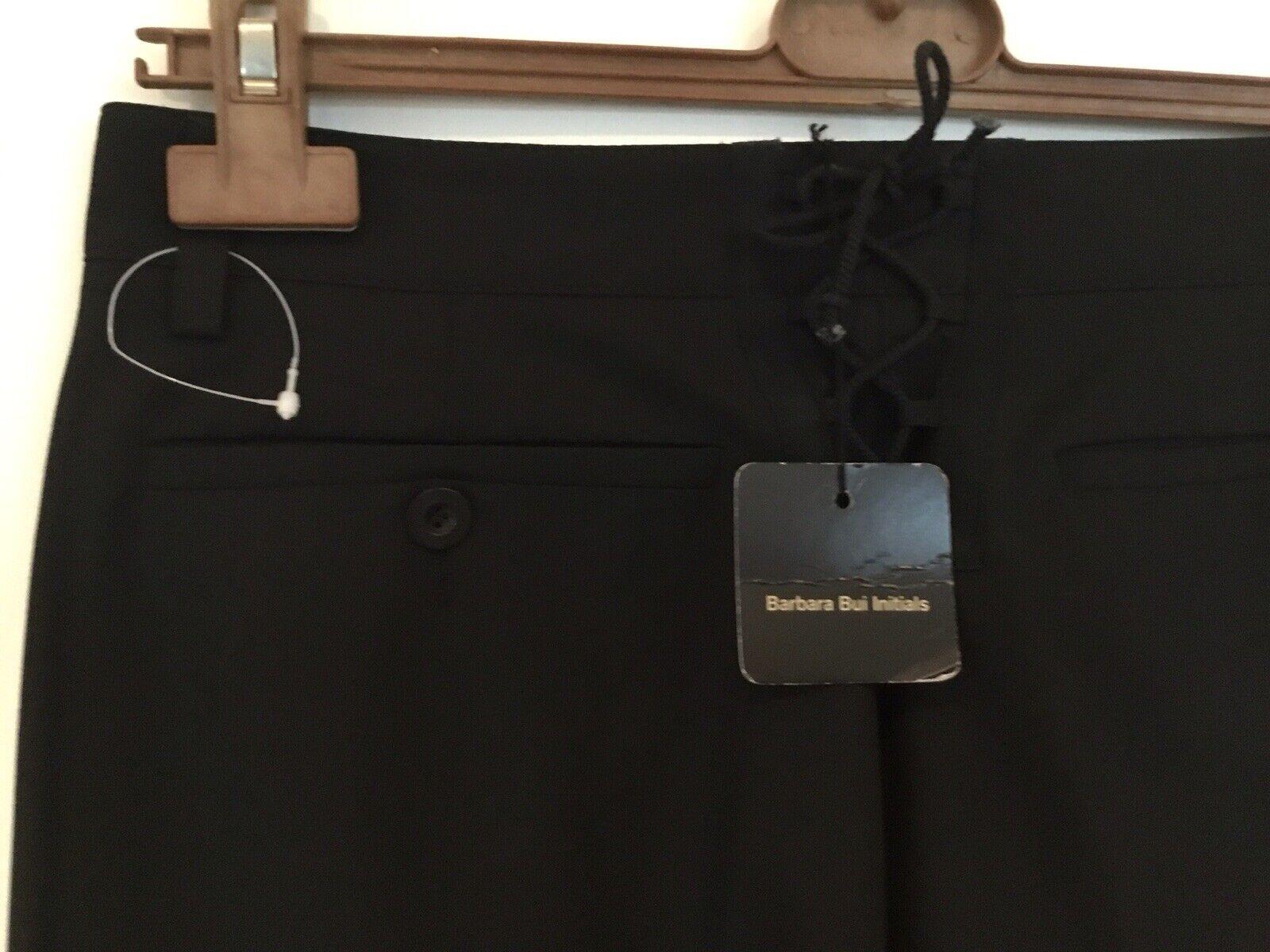 BUI DE BARBARA BUI Noir Femme Pantalon Avec Dentelle Détail FR 38 10UK