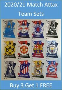 2020/21 Match Attax UEFA Champions Team Sets - Buy 3 Get 1 FREE