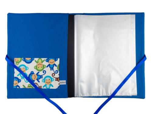 innen 30 Sichthüllen Zeugnismappe DIN A4 Affen weiß blau