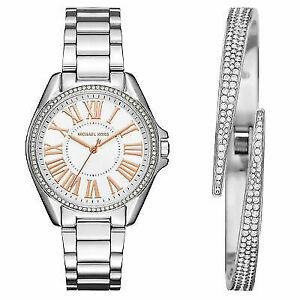 6dfc70f897ea Michael Kors Kacie Ladies Analog Watch Casual Silver MK3567 Mk3569 ...