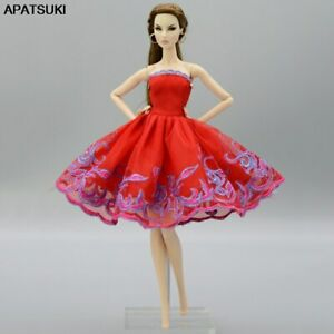 Red-Purple-Fashion-Tutu-Dress-For-11-5-034-Doll-Outfits-1-6-Party-Dresses-Clothes