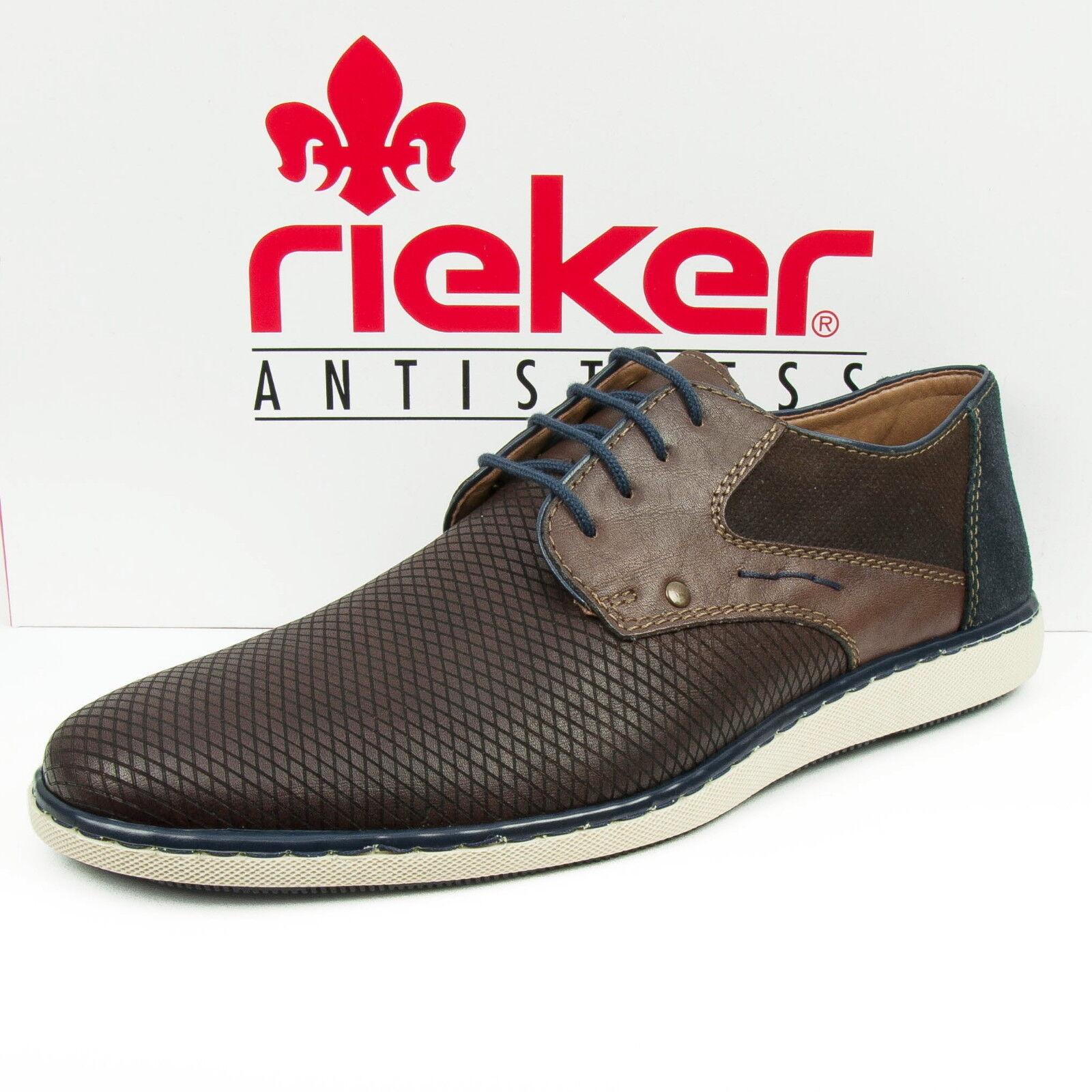 Rieker Rieker Rieker Zapatos Hombre Zapatos De Cordones Sneaker Zapato Marrón Combi 17829-28 22ad8f