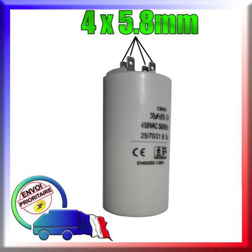 30uF moteur Réfrigérateur Condensateur de démarrage de 30μF