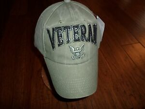 79e2cdfb037 U.S NAVY VETERAN HAT EMBROIDERED 3D RAISED LETTERS MILITARY BALL CAP ...