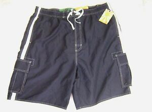 ac0bb2dee7 Urban Up Pipeline Men's Swim Trunks Mesh Lining Navy XXL NWT | eBay