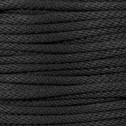Premium Black Theater Cord by Golberg Unglazed Cotton Sheath Polyester Core Rope