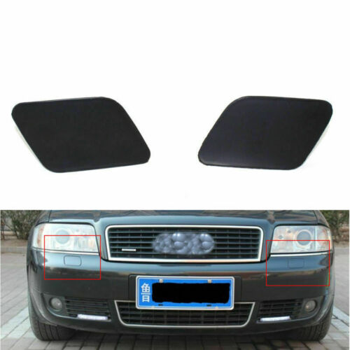 Car Headlight Washer Cover Primered for Audi A6 C5 02-05 Left /& Right