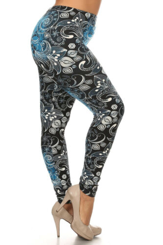 MOMMY ME PAISLEY OMBRE FLORAL LEGGINGS PLUS TC ONE SIZE OS GIRL SOFT AS LLR