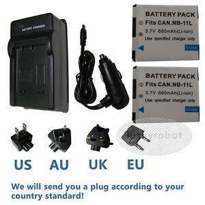 2X-Battery-charger-for-Canon-NB-11L-CB-2LD-IXUS150-IXUS155-IXUS160-IXUS165