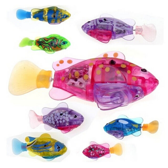 1x Electronic Pet Robot Toy Fish Aquatic Battery Powered Fish Kids Children Gift