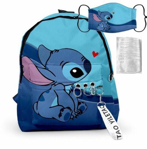 Stitch Keychain 10 Filters Lilo /& Stitch Kids  Blue Backpack  Face Masks