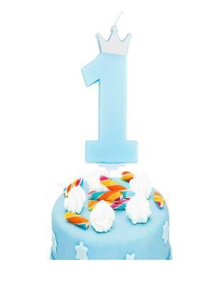 Tortenkerze 1.Geburtstag Junge blau Kuchen Dekoration Partyzubehör