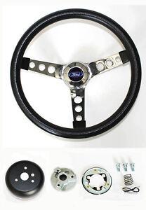 Maverick-Torino-Galaxie-Thunderbird-LTD-Black-and-Chrome-Steering-Wheel-14-1-2-034