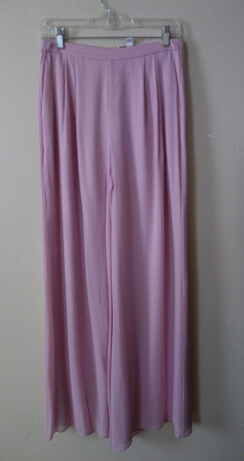 ST. JOHN EVENING  PALLAZO SILK pink PEDAL PANTS SIZE 6 NWT