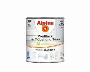 alpina wei lack f r m bel und t ren hochwertiger schutz ebay. Black Bedroom Furniture Sets. Home Design Ideas