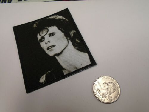 David Bowie Face Shot 1980/'s Glam Rock Black /& White EMBROIDERED PATCH NEW