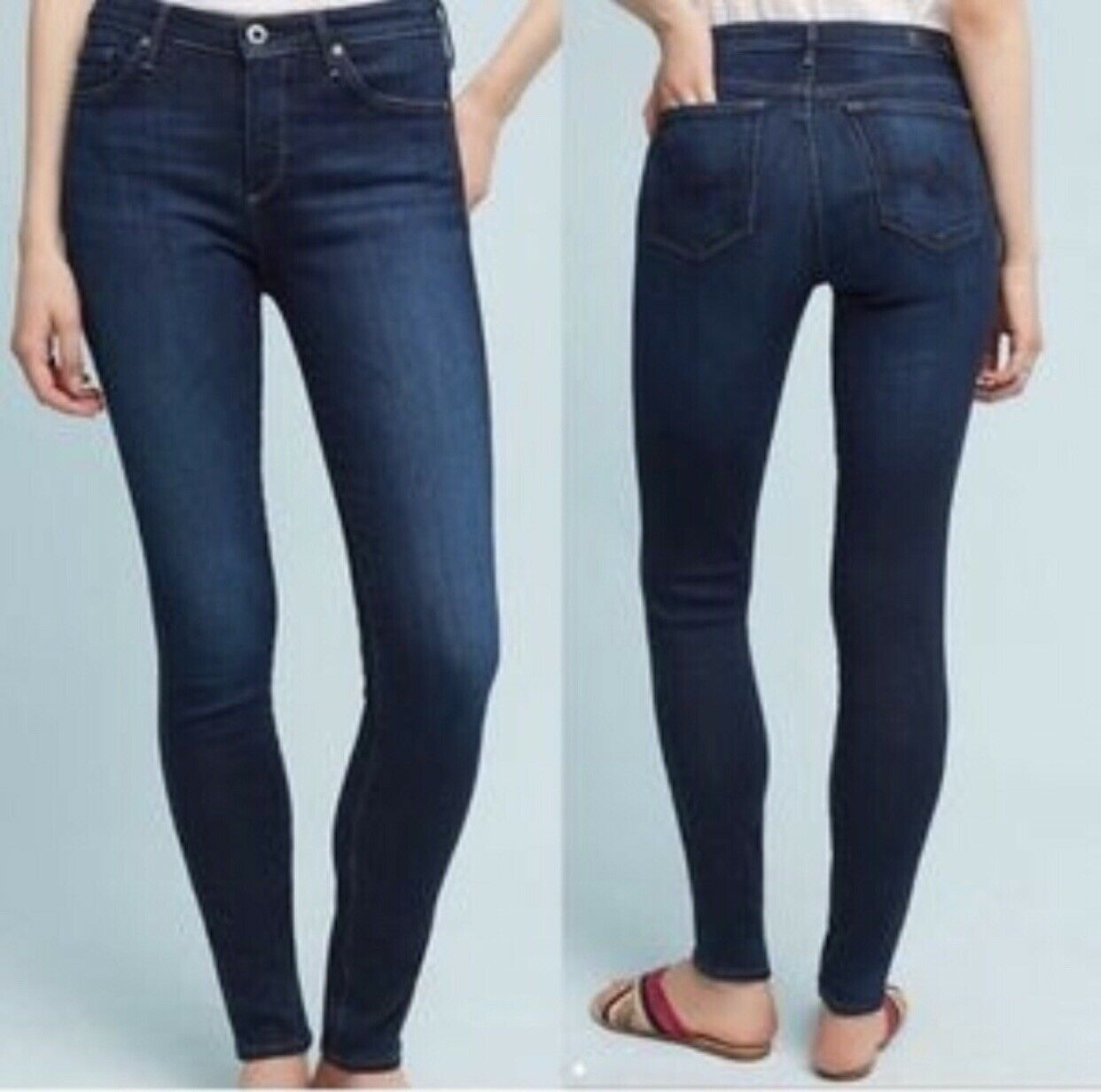Anthropologie AG Adriano goldschmied The Abbey Super Skinny High Rise Jean Sz 27