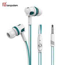 Langsdom JM26 Weiss Headset Megabass für Samsung, LG, HTC, Apple